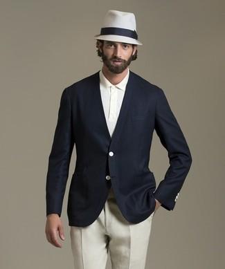 Polo Pantalón Look Marino De Chino Azul Moda Camisa Blazer Blanca 8qfqwYCH 6fab7efdbd6b