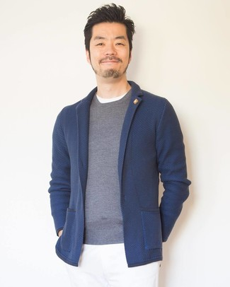 Jersey con cuello circular gris de U-NI-TY