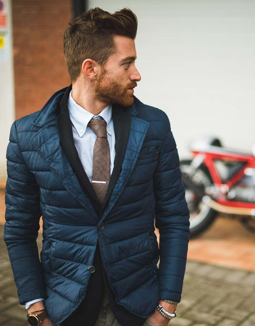 hackett brandalley london navy quilt blazer quilted