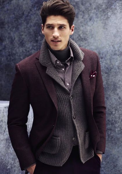 Burgundy Blazer | Men's Fashion