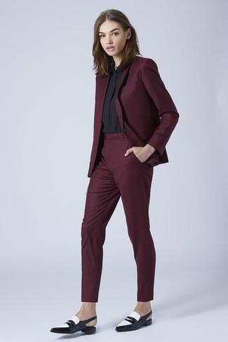 Pantalón de vestir burdeos de Gerard Darel
