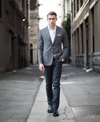 imágenes detalladas talla 40 super calidad Cómo combinar un blazer gris con unos zapatos oxford de ...