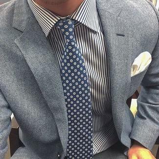 Blazer de espiguilla gris de Haver Sack