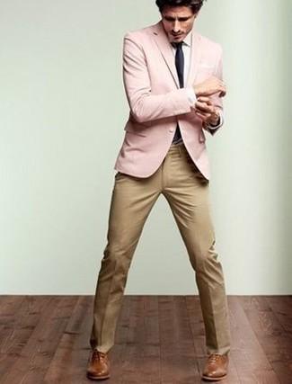 c99958efe980c Moda para Hombres › Moda para hombres de 30 años Look de moda  Blazer  rosado