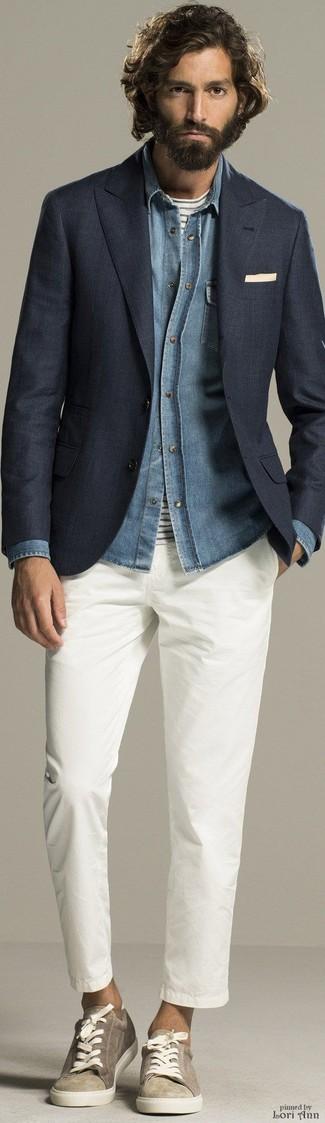 Camisa vaquera celeste de Calvin Klein Jeans