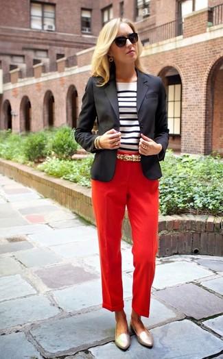 Pantalón de vestir rojo de Max Mara