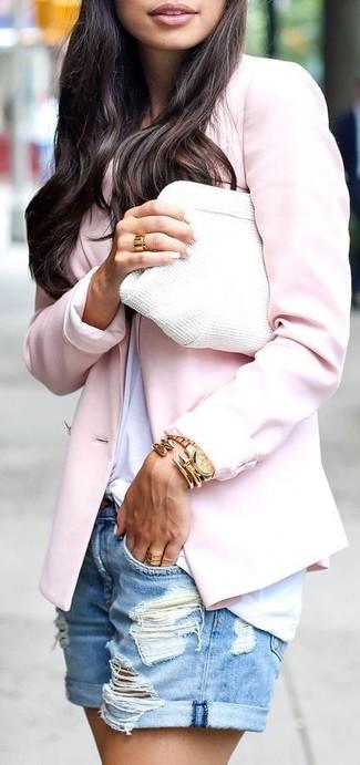 Blazer rosado de Tagliatore