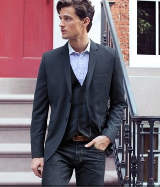 How To Wear a Navy Blazer With Navy Jeans | Men&39s Fashion