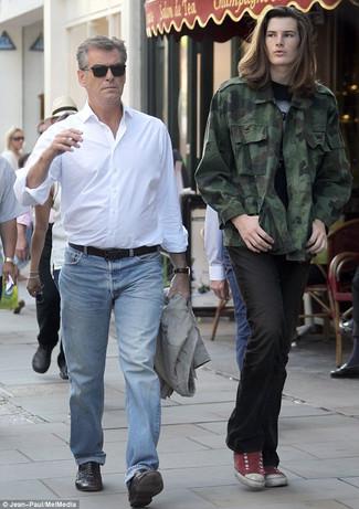 Blazer chemise a manches longues jean large 29446