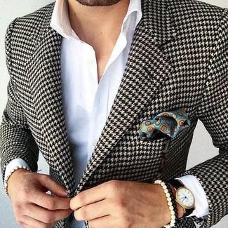 c92d165fe7960 Blazer homme pied de poule - Idée de Costume et vêtement