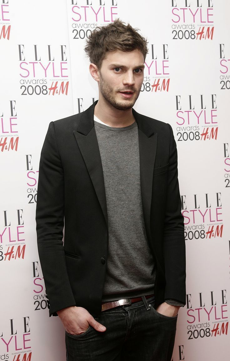 Black t shirt with suit - Jamie Dornan Wearing Black Blazer Grey Crew Neck Sweater White Crew Neck T Shirt Navy Jeans Men S Fashion
