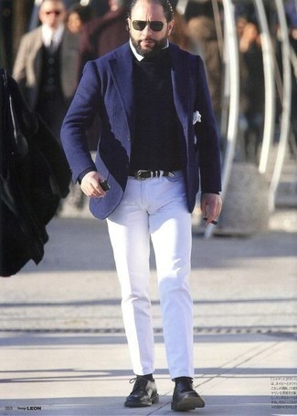 How to Wear a Dress Shirt For Men: As you can see, it doesn't require that much effort for a man to look casually neat. Just try pairing a dress shirt with white chinos and you'll look incredibly stylish. Black leather derby shoes are guaranteed to inject an element of class into this outfit.