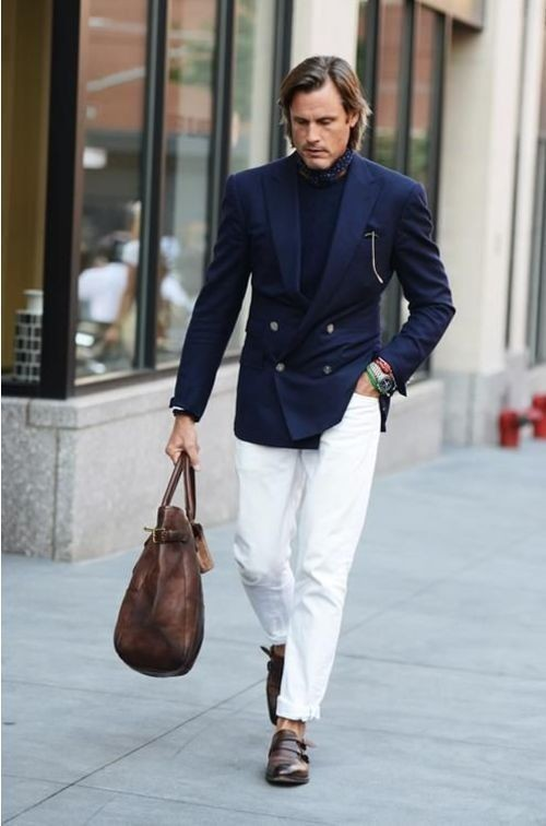 How To Wear a Navy Crew-neck Sweater With a Navy Blazer | Men's ...