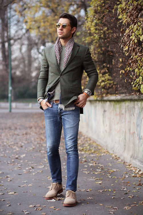 How To Wear A Grey Blazer With Blue Jeans For Men 135 Looks