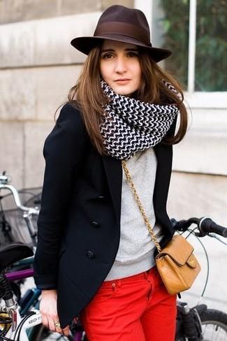 Graham Spencer Colorblock Cashmere Sweater