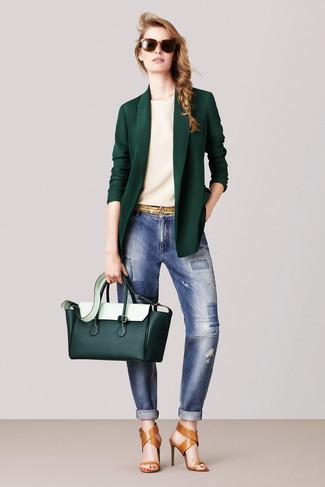e718654b8a6 ... Women s Dark Green Blazer