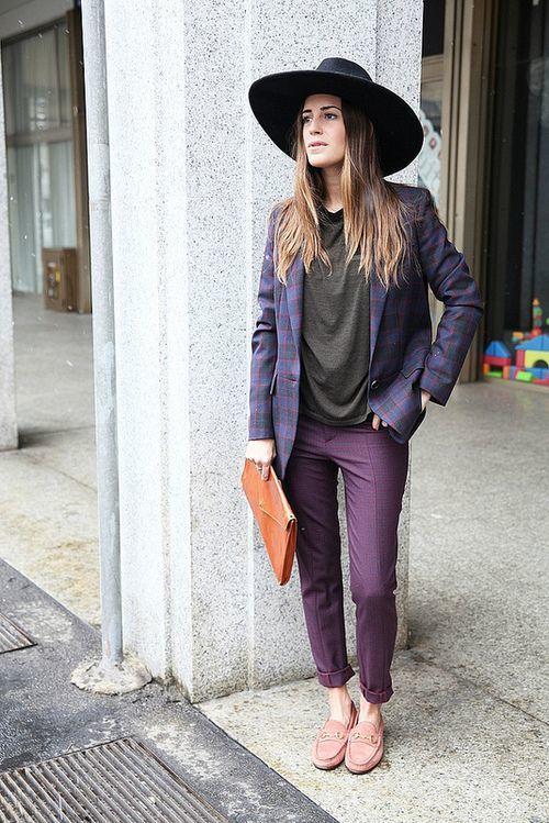 How to Wear a Dark Purple Blazer (6 looks) | Women's Fashion