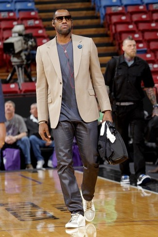 Lebron James wearing Beige Blazer cbdca40cdddb