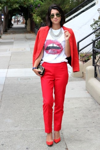 Brilliant Red Dress Pants For Women  Lookastic For Women