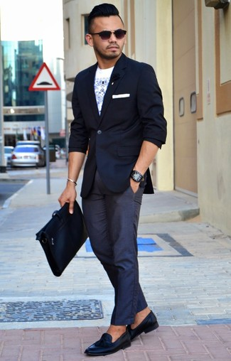 How To Wear Black Leather Tassel Loafers 35 Looks Men