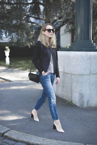 a52c3b547d How to wear Alexander McQueen Lace Drape Corset Jacket