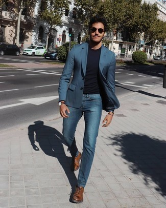 Wear jeans blue what to with blazer and blazer with