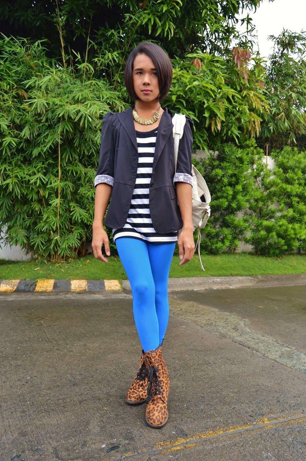 How to Wear Blue Leggings (21 looks) | Women's Fashion