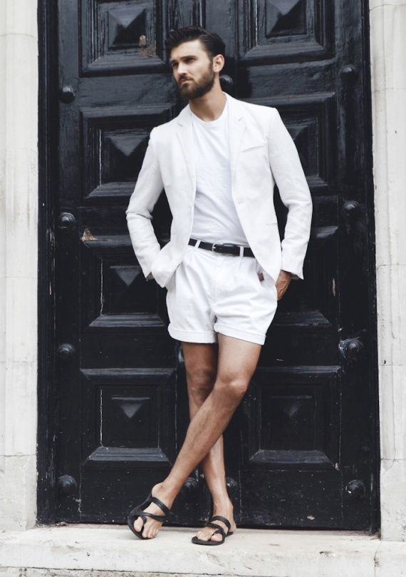 How to Wear White Shorts (106 looks) | Men's Fashion