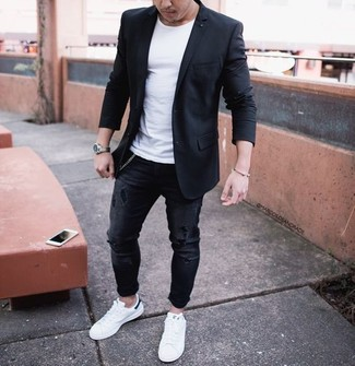 How to Wear a Black Blazer (246 looks) | Men's Fashion