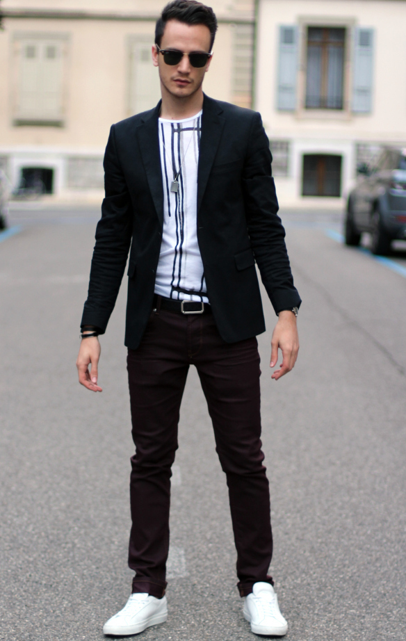 How to Wear a White and Black Crew-neck T-shirt (829 looks ...