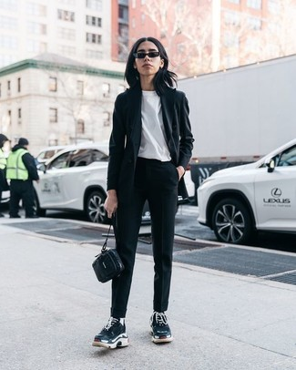 A black blazer and Ralph Lauren Kersten Tapered Leg Pant is a savvy pairing worth integrating into your wardrobe. Grab a pair of black athletic shoes for a more relaxed aesthetic. So if you're searching for an outfit that's stylish but also totally spring_friendly, you found it.