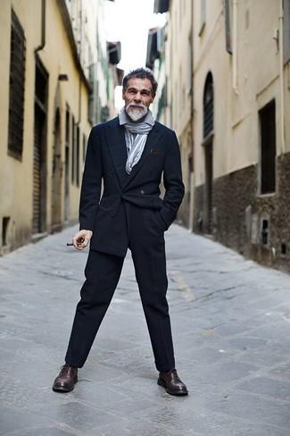Blazer croise chemise a manches longues pantalon de costume large 6085