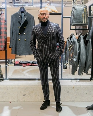 Jersey de cuello alto negro de Marc by Marc Jacobs