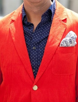 Blazer de algodón rojo de Carven