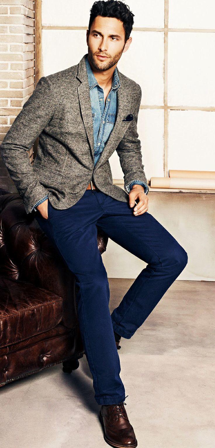 How to Wear a Denim Shirt (330 looks) | Men\u0027s Fashion