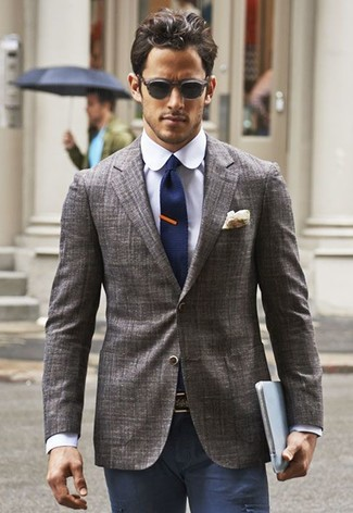 How to Wear a Grey Blazer (563 looks) | Men&39s Fashion