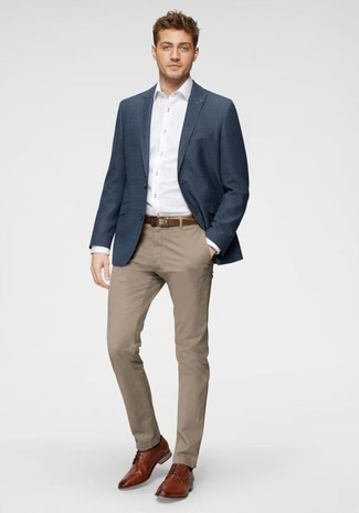 Linen Cotton Blazer Navy