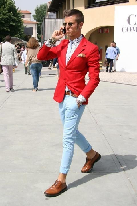How to Wear a Red Blazer (71 looks) | Men's Fashion