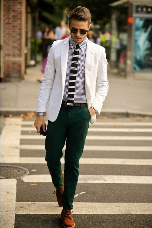 How to Wear Dark Green Chinos (183 looks) | Men's Fashion