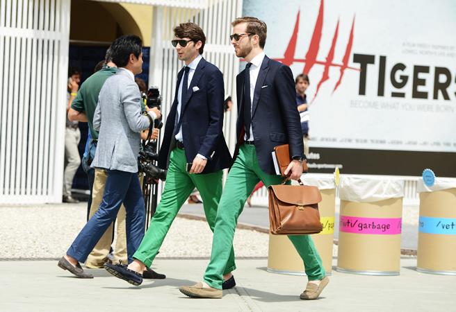 Green Chino Pants Men