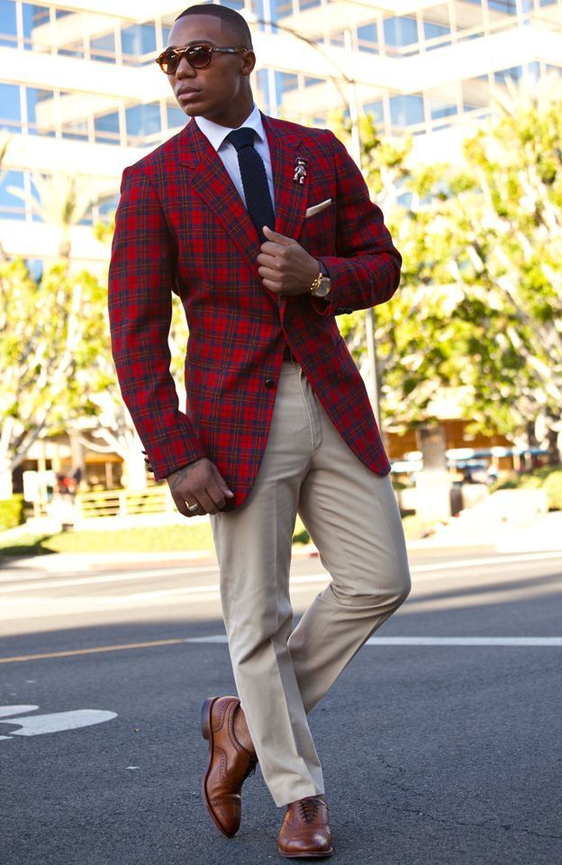 what to wear with plaid pants men - Pi Pants