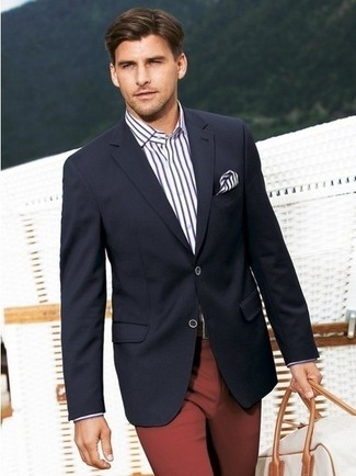 Blazer dress shirt dress pants holdall pocket square large 272