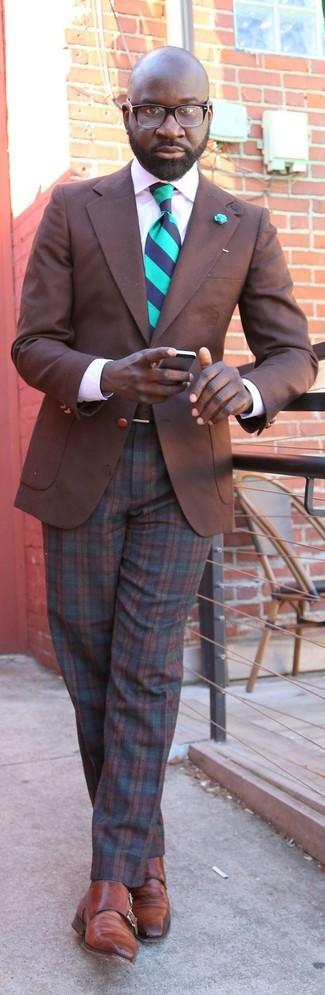 Brown Plaid Dress Pants | Men's Fashion