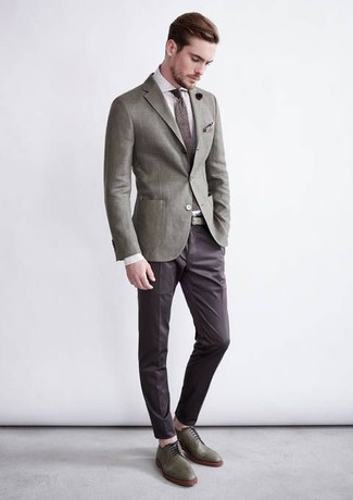 How to Wear a Grey Blazer (580 looks) | Men's Fashion