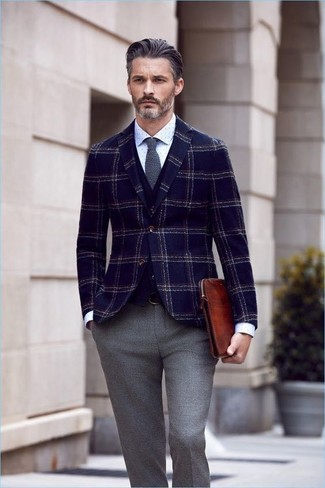 Fit Plaid Wool Sport Coat