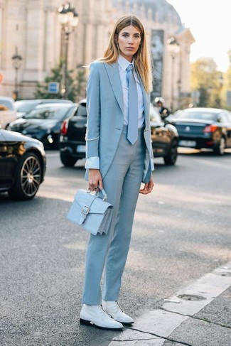 8df621868fe How to Wear a Light Blue Blazer For Women (43 looks   outfits ...