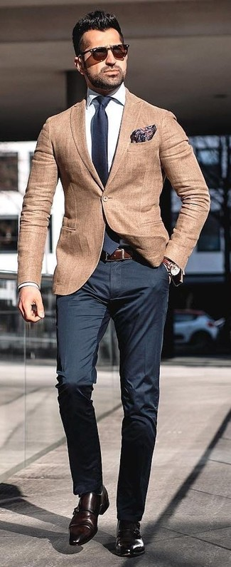 978407af153 How to Wear a Tan Blazer For Men (339 looks   outfits)