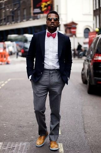 Luxury Serge Double Pleated Wool Trousers