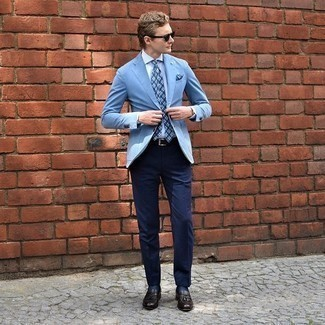 Light blue blazer pants with what color What Color