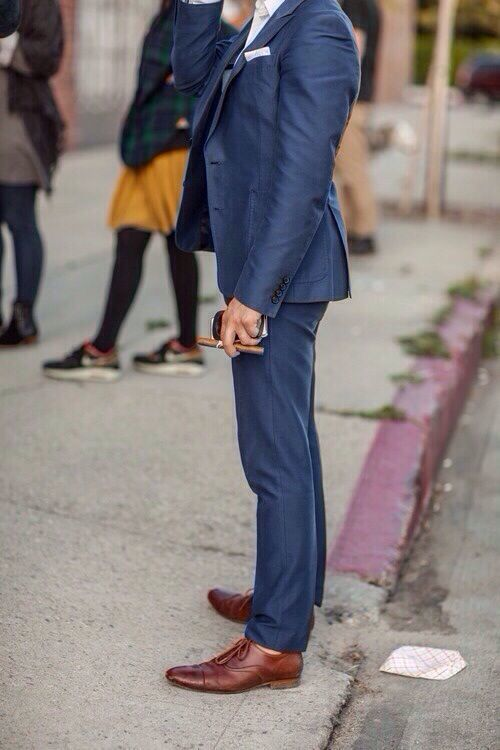 Deep Blue Blazer And Navy